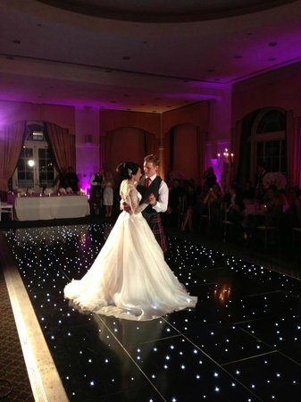 Balbirnie House: Ballroom first dance - photo by Blue Sky Photography