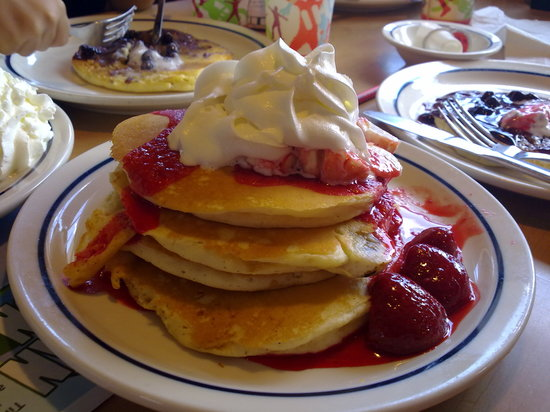 IHOP: strawberry/banana stack