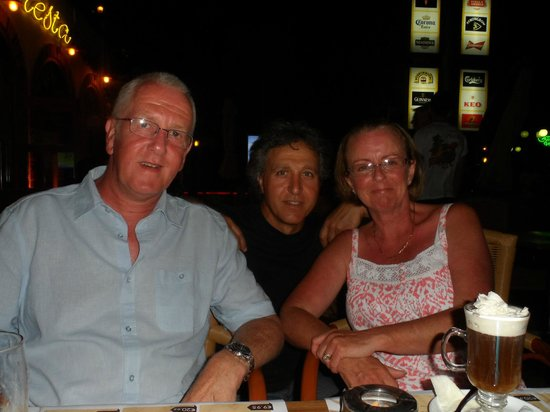 Fiesta Bar & Grill: My mum, dad and another waiter