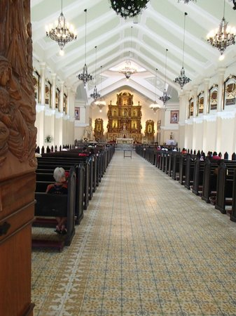 The Transfiguration of Our Lord Cathedral: the floor tiles