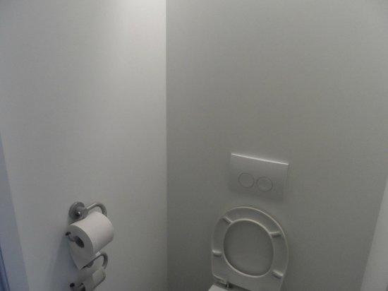 Ibis Budget Freiburg Süd: Il bagno di una stanza