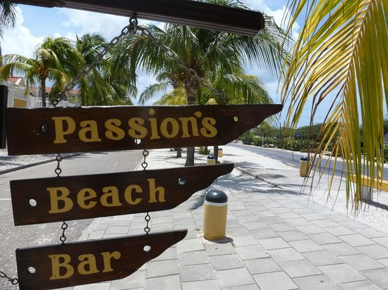 Street sign Passions on the Beach
