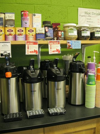 Rising Tide Community Market: Coffee to go - fair trade, organic, and/or locally roasted.