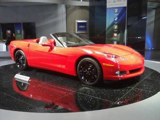 GM Renaissance Center: This is not a Model, It's a real Corvette