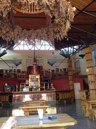 Steinbrau: large beer hall.