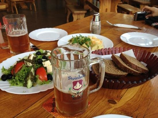 Steinbrau: nice beer and cuisine.