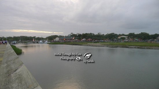 MarshWalk: Views of the restaurants at Murrells Inlet