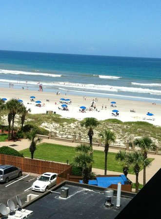 partial beach view from hotel picture of hampton inn. Black Bedroom Furniture Sets. Home Design Ideas