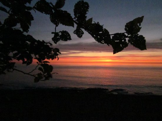 Porcupine Mountains Wilderness State Park: Looking out at Lake Superior at sunset from the campground.