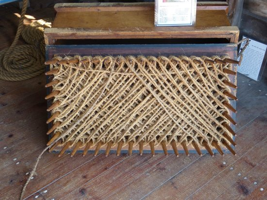 """Old Harbor Lifesaving Station : The rope storage device for the """"zip line"""""""