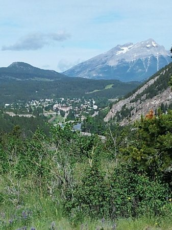 View of Crowsnest Pass Valley from Frank Slide Interpretive Centre