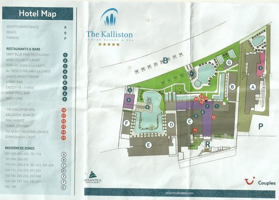 SENSIMAR KALLISTON Resort & Spa by ATLANTICA : Hotel plan