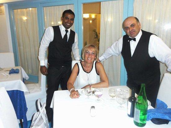 Hotel Regina Cristina: Il personale di sala