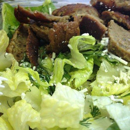 Athena Greek Taverna: maroulosalata with gyro meat from the pita express!