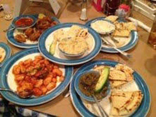 Athena Greek Taverna: An assortment of appetizers from Athena Taverna.