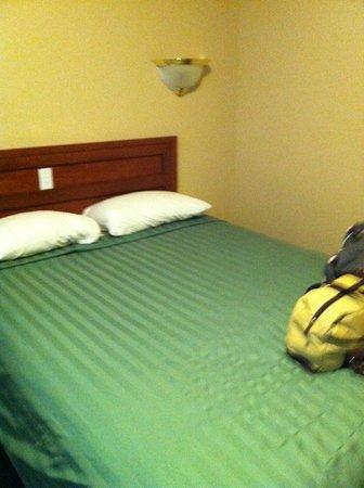 Alpine Motel Kamloops: Bed in room 204
