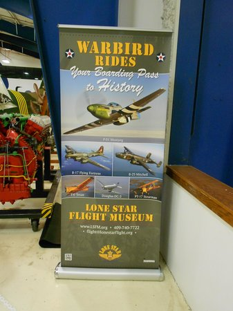 Lone Star Flight Museum: Warbids rides available