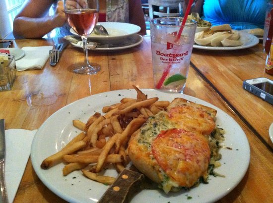 Boatyard Bar & Grill: crab melt and fries- always my personal favorite