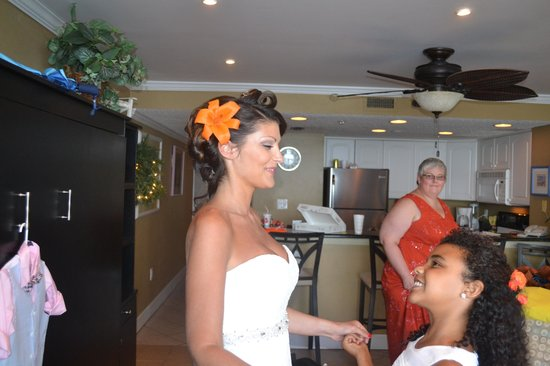 Sundestin Beach Resort: Getting ready for our wedding.
