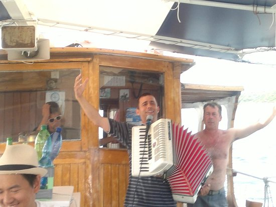 Fish Picnic - Lim Fjord: Serenading the passengers