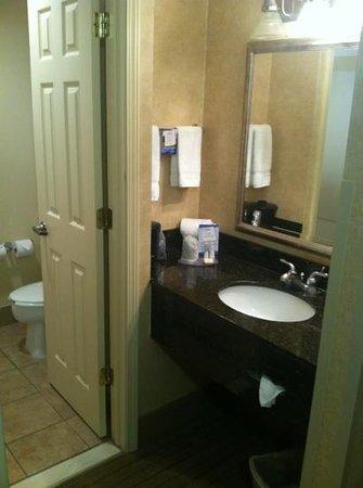 Baymont Inn & Suites Indianapolis South: Bathroom; close confines & no lock on doors