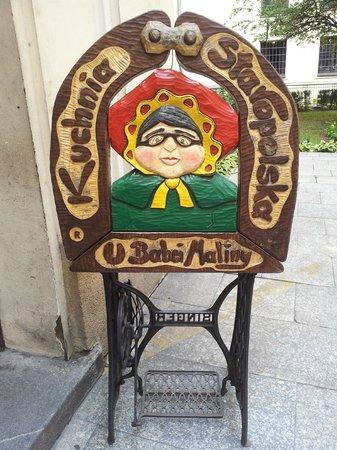 U Babci Maliny: Entrance