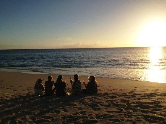 Jacqui O's BeachHouse: sunset with friends