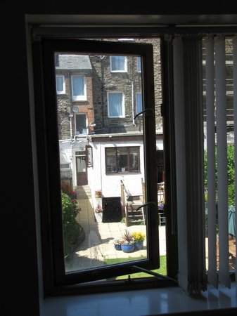 The Helmsman: View from annex - property garden, main building of B&B