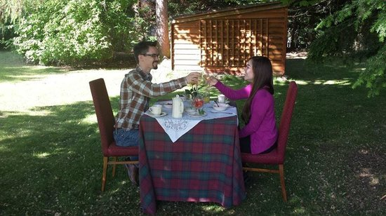 Columba House Hotel : Honeymoon breakfast at our own, private table