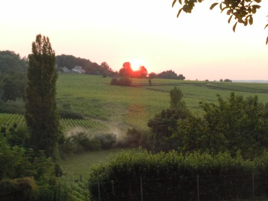 Le Clos Mirande: Sunset at Clos Mirande