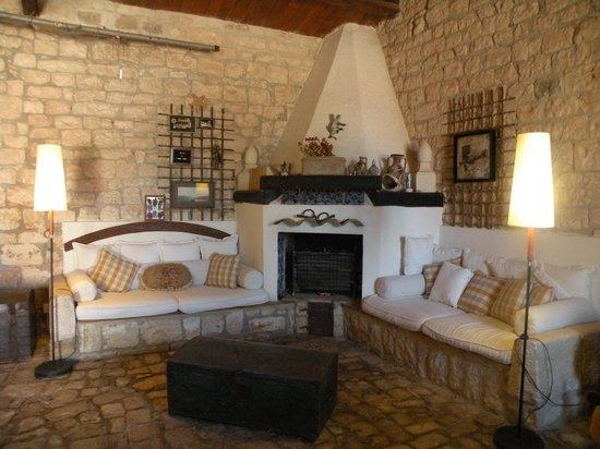 Villa Quartarella: la sala comune