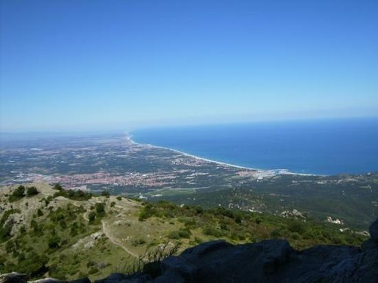 Argeles-sur-Mer, Frankrike: view over argeles sur met