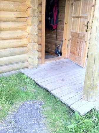 Bearnock  Country Cottages : entrance uneven and needing repaired