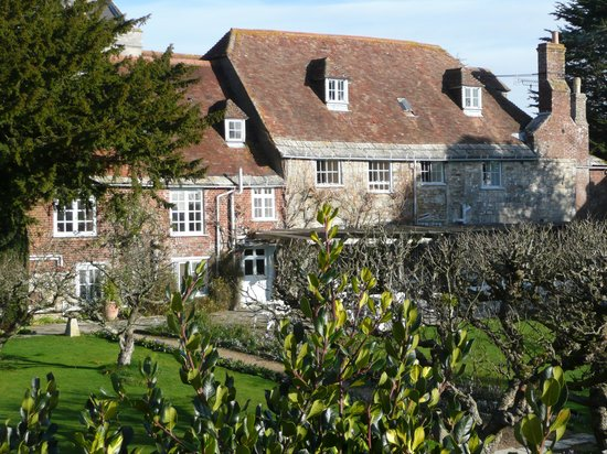 The Priory Hotel: The hotel from the rriver bank