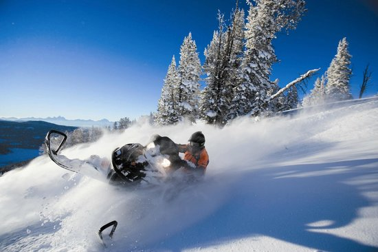 Bighorn Meadows Resort: Snowmobiling nearby!