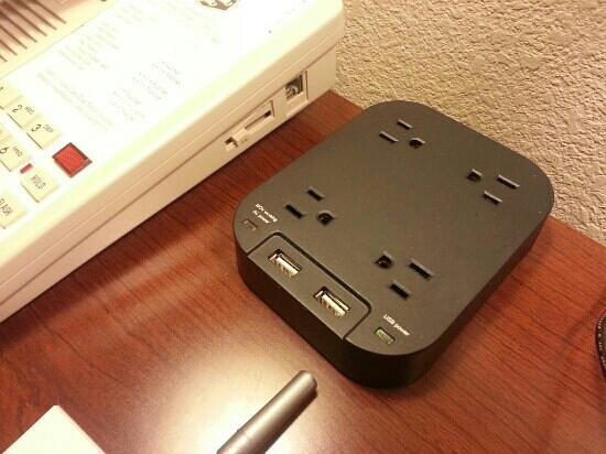 Hampton Inn Colorado Springs Airport: charging station. best thing in the room!