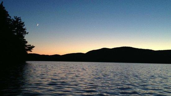 Prospect Point Cottages - Blue Mountain Lake: Blue Mountain Lake Sunset