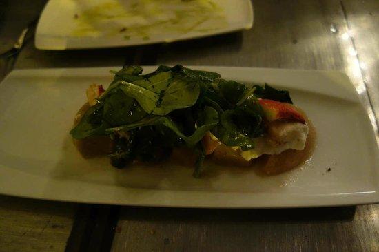 Bar Crudo: crabe et noix de pétoncle, un régal
