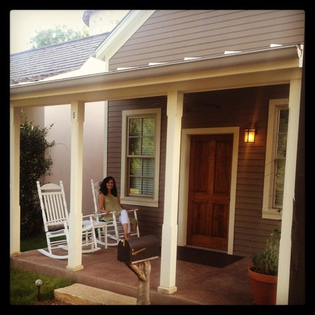 Fredericksburg Herb Farm - Sunday Haus Cottages: Enjoying the perfect evening doing one of my favorite activities.