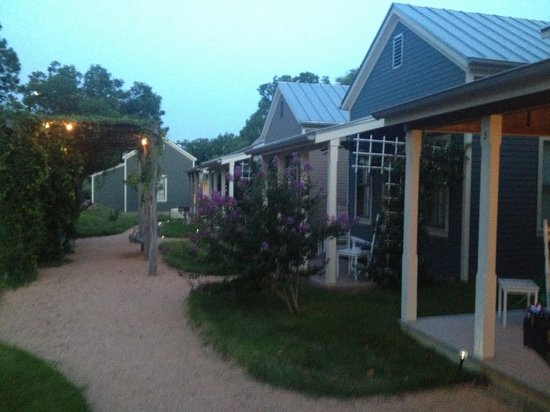 Fredericksburg Herb Farm - Sunday Haus Cottages: A few of the cottages along this path