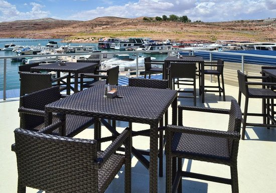 Latitude 37: View of Wahweap Marina from the Upper Deck