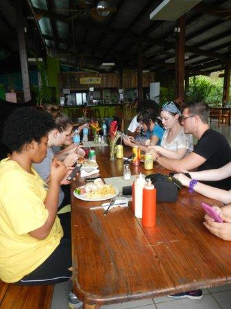 Bocas Island Lodge : Restaurant & Recption area