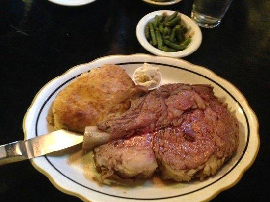 Hoof & Horn Steak House: Prime Rib and Twice Baked Heaven