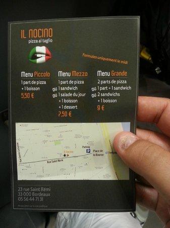 IL Nocino : le prix des menus et l adresse