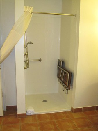 Wyndham Long Wharf Resort: handicap bthrm shower