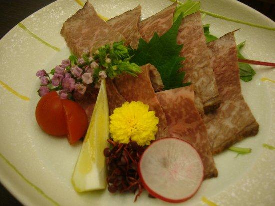 Hanaougi Bettei Iiyama: Roast Hida beef