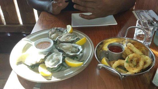 The Shack: osters and calamari