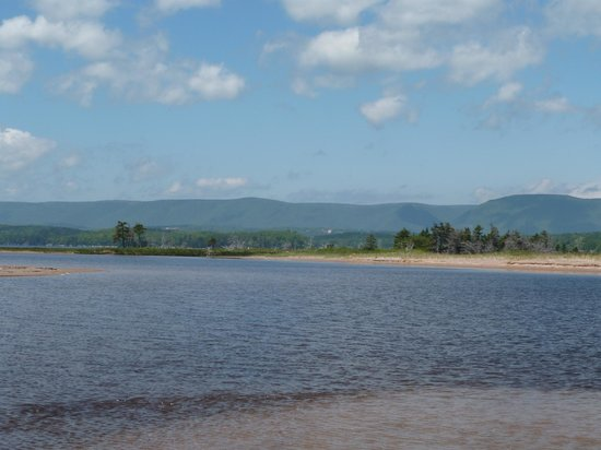Eagle North Kayak: View from North Harbour Beach, looking back at Cape Breton Island