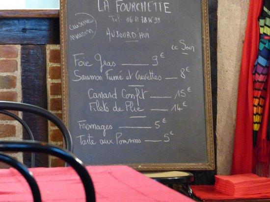 La Fourchette: Menu du jour