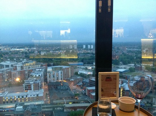 Hilton Manchester Deansgate: View from our table